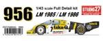 1-43-Porsche-956-Newman-taka-Q-LM-1985-LM-1986-Long-Tail