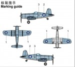1-350-F4U-4-CORSAIR-Pre-painted-4-pcs
