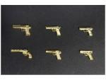 1-12-Realistic-Handgun-6-Types-Gold-Coating-Ver-