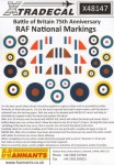 1-48-Supermarine-Spitfire-and-Hawker-Hurricane-National-Insignia-Battle-of-Britain-1940-Double-Sheet-
