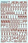 1-72-RAF-WWII-Dull-red-bomber-code-letters-48-high-x-24-x-6-stroke-
