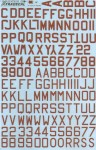 1-72-RAF-WWII-Dull-red-letters-and-numbers-36-high-x-6-and-4-5-strokes-