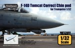 1-32-F-14D-Tomcat-Correct-Chin-pod-set-for-Trumpeter