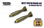 M117-750-lb-Bomb-set-for-Vietnam-War-Era