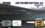 RARE-1-48-F-15A-B-C-D-E-I-K-LAU-128-ADU-552-Pylon-set