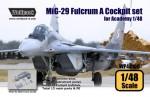 1-48-MiG-29-9-12-Fulcrum-A-Cockpit-set-for-Academy