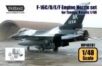 1-48-F-16C-D-E-F-F110-Engine-Nozzle-set-for-Tamiya-Kinetic-1-48