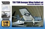 1-48-TBF-TBM-Avenger-Wing-Folded-set-for-Revell-1-48