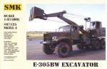 1-87-Excavator-E-305BW-on-Kraz-255