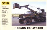 1-87-Excavator-E-305BW-on-Kraz-255