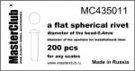 Flat-spherical-rivet-04*03mm
