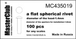 Flat-spherical-rive-14*10mm