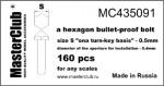 hexagon-bullet-proof-bolt-head-05*04mm