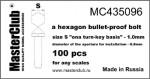 hexagon-bullet-proof-bolt-head-10*08mm