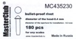 Cone-head-bullet-proof-rivet-diameter-of-the-head-0-5mm