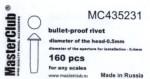 Cone-head-bullet-proof-rivet-diameter-of-the-head-0-6mm