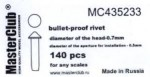 Cone-head-bullet-proof-rivet-diameter-of-the-head-0-8mm