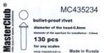 Cone-head-bullet-proof-rivet-diameter-of-the-head-0-9mm