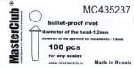 Cone-head-bullet-proof-rivet-diameter-of-the-head-1-4mm
