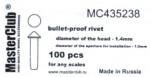 Cone-head-bullet-proof-rivet-diameter-of-the-head-1-6mm