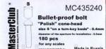 Polish-cone-head-bullet-proof-bolt-diameter-of-the-head-0-5mm