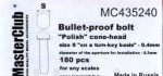 Polish-cone-head-bullet-proof-bolt-diameter-of-the-head-0-5mm