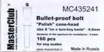 Polish-cone-head-bullet-proof-bolt-diameter-of-the-head-0-6mm