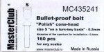 Polish-cone-head-bullet-proof-bolt-diameter-of-the-head-0-6mm