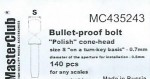 Polish-cone-head-bullet-proof-bolt-diameter-of-the-head-0-8mm