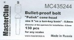 Polish-cone-head-bullet-proof-bolt-diameter-of-the-head-0-9mm
