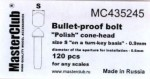 Polish-cone-head-bullet-proof-bolt-diameter-of-the-head-1-0mm
