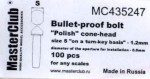 Polish-cone-head-bullet-proof-bolt-diameter-of-the-head-1-4mm