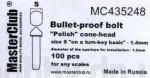 Polish-cone-head-bullet-proof-bolt-diameter-of-the-head-1-6mm