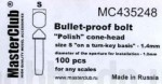 Polish-cone-head-bullet-proof-bolt-diameter-of-the-head-1-6mm