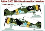 1-72-Fokker-D-XXI-Ski-+-decals-for-2-versions