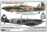 1-72-312-th-Squadron-RAF-Part-I-Hurricane-Mk-I-L1926-DuoJ-+-Spitfire-LF-Mk-IXe-TE515-DU-W