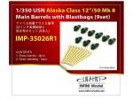 1-350-USN-Alaska-Class-12-50-MK8-Main-Barrels-with-Blastbags-9set-for-Hobby-Boss