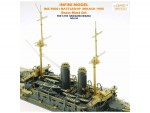 1-700-Brass-Mast-Set-with-Photo-Etched-Parts-IJN-Battleship-Mikasa-1905-for-Hasegawa-No-151