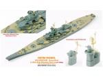 1-700-USS-Missouri-Brass-Mast-and-Ultra-Slim-Wooden-Deck-Set-0-1mm-for-Tamiya