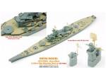 1-700-USS-Iowa-Brass-Mast-and-Ultra-Slim-Wooden-Deck-Set-0-1mm-for-Tamiya