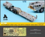 1-72-Russian-MAZ-7410-and-CHMZAP-9990-Semi-Trailer-Detail-up-Set-for-Model-Collect