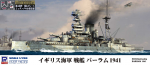 1-700-Royal-Navy-Battleship-Barham-1941-with-Flag-and-Ship-Name-Plate-Photo-Etched-Parts