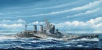 1-700-Royal-Navy-Battlecruiser-HMS-Renown-1945-with-Flag-and-Ship-Name-Plate-Photo-Etched-Parts