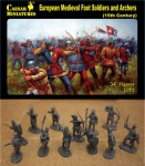 1-72-European-Medieval-Foot-Soldiers-and-Archers-15th-Century
