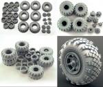 1-35-Wheel-set-VID-201-for-6X6-Truck-KRAZ-6pcs-plus-extra
