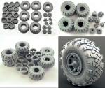1-35-Wheel-set-VID-201-for-6X6-Truck-KRAZ-6pcs-plus-extra