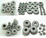 1-35-Wheel-set-Bellshina-for-6X6-Truck-KRAZ-6322-UA-6pcs-plus-extra