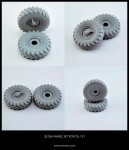 1-35-Wheel-set-for-Soviet-Truck-ZiL-131-6pcs-+-1-extra