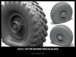 1-35-Flat-tyre-for-Soviet-Truck-Gaz-66-2pcs