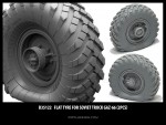 1-35-Flat-tyre-for-Soviet-Truck-Gaz-66-2pcs